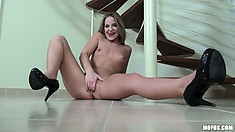 She's a hot and horny Hungarian babe that likes to play with herself