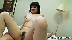 She loves to ride that throbbing cock and to take it deep in her snatch from behind