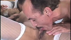 Hot black nurse gets a hard dicking from one of her patients