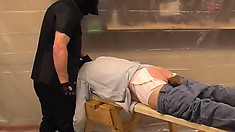 Chubby redneck gets his ass punished and teased by his hunky dom
